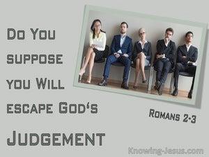 Romans 2:3