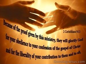 2 Corinthians 9:13