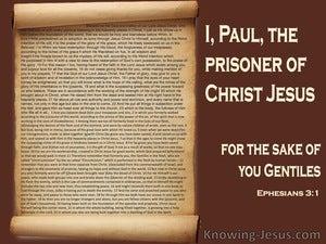 Ephesians 3:1