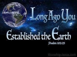 Psalm 102:25