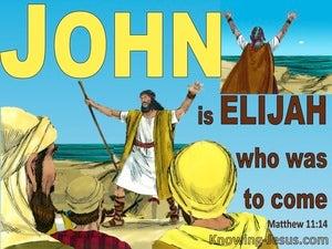 Matthew 11:14