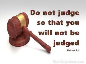 Matthew 7:1