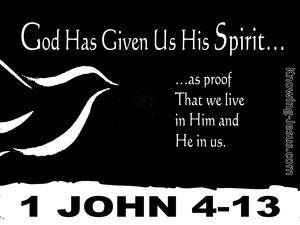 1 John 4:13