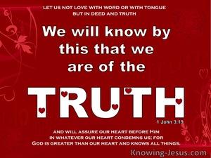 1 John 3:19