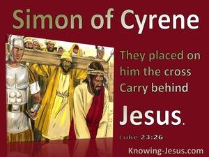 Luke 23:26