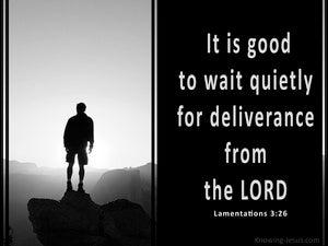 Lamentations 3:26
