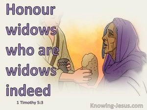 1 Timothy 5:3