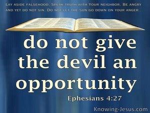Ephesians 4:27