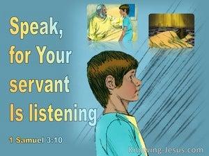 1 Samuel 3:10