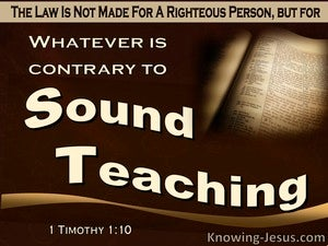 1 Timothy 1:10