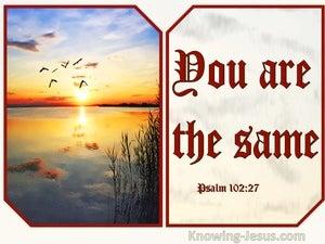 Psalm 102:27