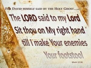 Mark 12:36