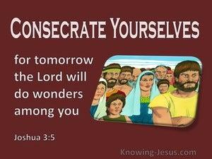 Joshua 3:5