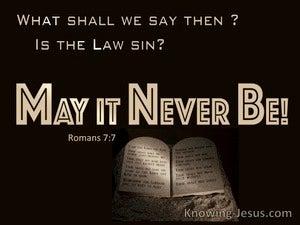 Romans 7:7