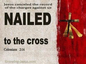 Colossians 2:14