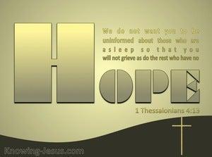 1 Thessalonians 4:13