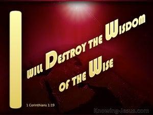 1 Corinthians 1:19
