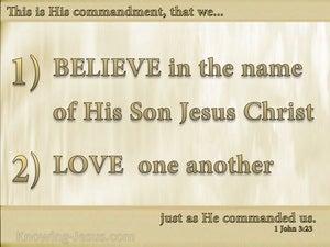 1 John 3:23