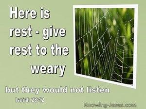 Isaiah 28:12