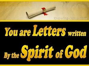 2 Corinthians 3:3