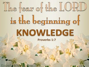 Proverbs 1:7