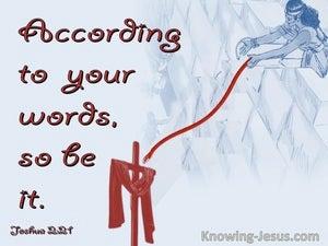 Joshua 2:21