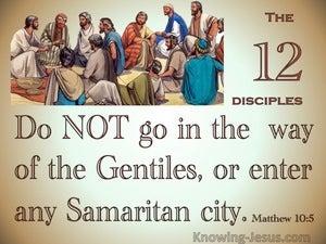Matthew 10:5