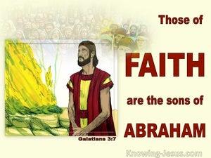 Galatians 3:7