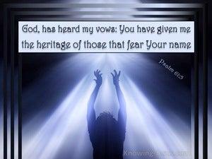 Psalm 61:5