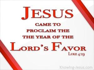 Luke 4:19