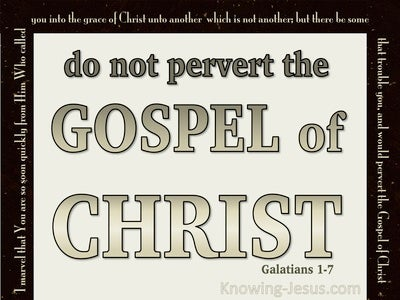 Galatians 1:7