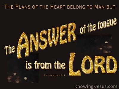 Proverbs 16:1