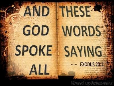 Exodus 20:1