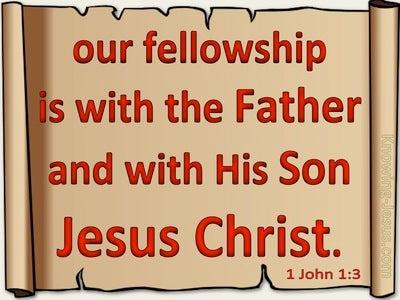 1 John 1:3