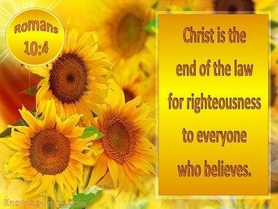Romans 10:4