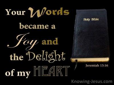 Jeremiah 15:16