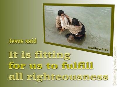 Matthew 3:15