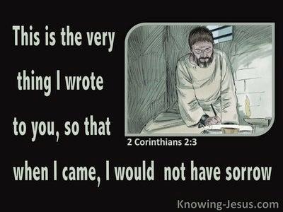 2 Corinthians 2:3