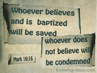 Mark 16:16