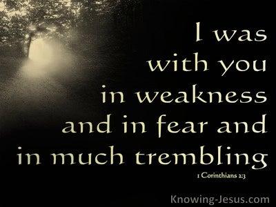 1 Corinthians 2:3