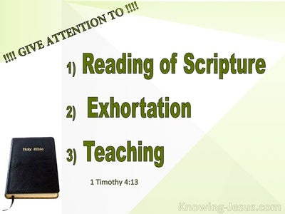 1 Timothy 4:13