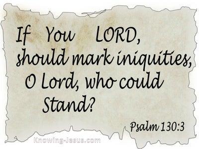 Psalm 130:3