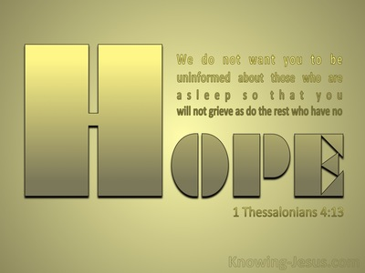 1 Thessalonians 4:13