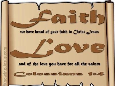 Colossians 1:4