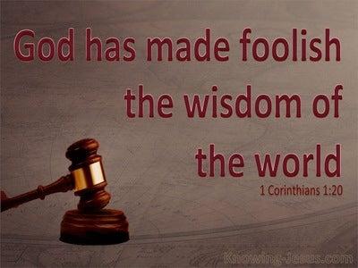 1 Corinthians 1:20