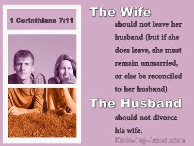 1 Corinthians 7:11