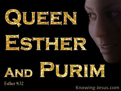 Esther 9:32