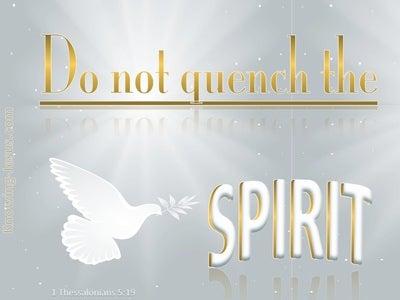 1 Thessalonians 5:19