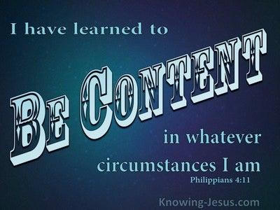 Philippians 4:11