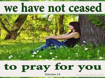Colossians 1:9